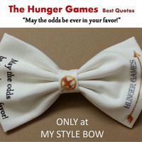 The Hunger Games Best Quotes May the odds... Hair Bow - Alligator clip