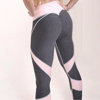 Yoga Women's Fashion Hot Sale Heart Sexy Patchwork Sportswear [11709079046]