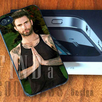 Hot Adam Levine Maroon 5  - Print Custom Case - Rubber or Plastic - iPhone 4 or 4s / 5, Samsung S3 / S4, iPod 4 /5