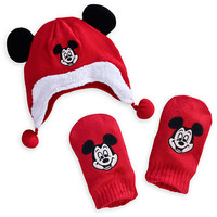 Mickey Mouse Hat and Mitten Set for Baby - Holiday