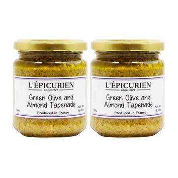 Free Shipping   2 Pack Epicurien Green Olive and Almond Tapenade 6.7 oz
