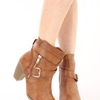 Laguna Ankle Booties Faux Leather- FINAL SALE