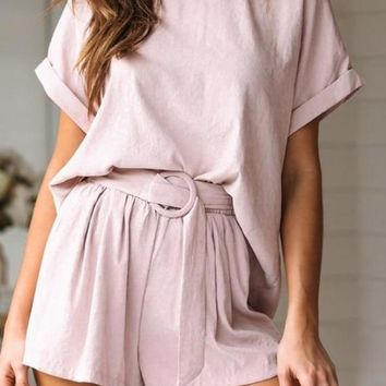 Pastel Pink Two-Piece Playsuit