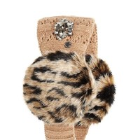 Luxe Faux Fur Pointelle Headband