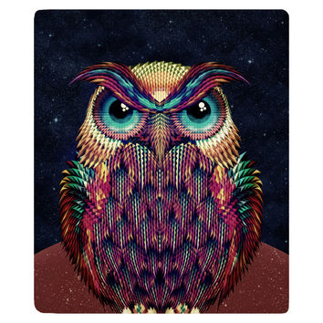 Owl 2 Fleece Throw