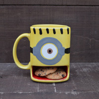 A Minion of My Very Own - Ceramic Cookies and Milk Dunk Mug - One Eye - Ready to Ship