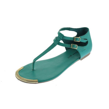 Madden Girl Womens Surrge Faux Leather T-Strap Thong Sandals