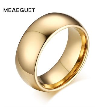 Meaeguet 8mm Wide Classic Tungsten Carbide Rings Jewelry Tungsten Rings For Women Men Wedding Band USA Size 7-13