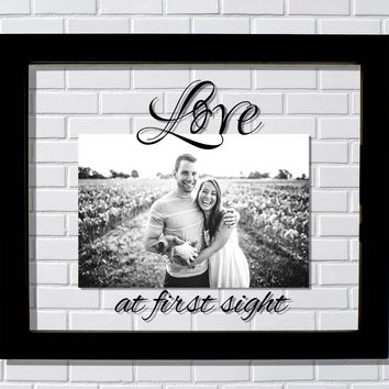 Love at first sight Floating Picture Frame - Couples Boyfriend Girlfriend Husband Wife Gift Present