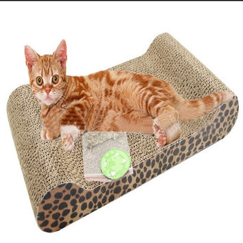New Classic Cat Kitten Scratching Box Board With Catnip Pet Toy Play Activity = 1929664388
