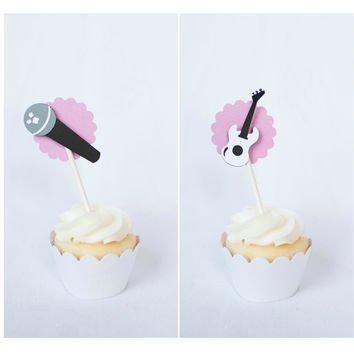 12 Rock Star Cupcake Toppers