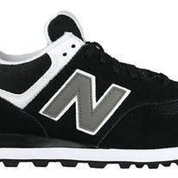 new balance mens sneakers classics 574 black white m574skw