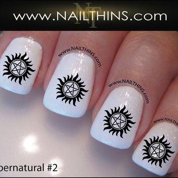 Supernatural Nail Decal Set #2 Anti-Possession Nail Designs NAILTHINS Nail art design