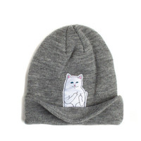 2016 Spring Women Cap Knitted Cat Hat Hip Hop Skullies & Beanies Women Beanies Men Street Dance Mask Winter Cap Unisex Gorro