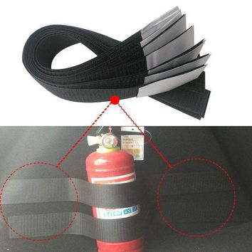 ONETOW car-styling 2pcs/set Car Organizer For audi q5 volvo ix25 Car Trunk Store Content Bag Fire Extinguisher Holder Safety Strap Kit