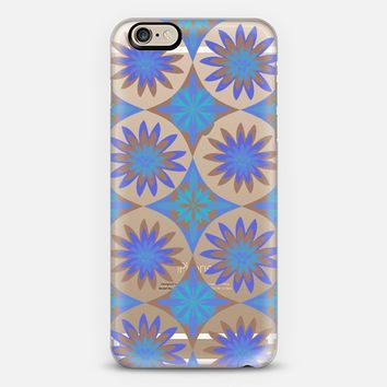 Blue Happy Flowers - Crystal Clear Phone Case iPhone 6 case by Nika Martinez | Casetify