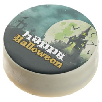 Spooky Haunted House Costume Night Sky Halloween Chocolate Covered Oreo