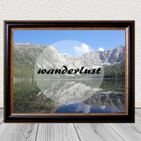 Wanderlust Photo Quote Print - Colorful Typography Art Print - Wall Art - Instant Download -  Mountain Photograph