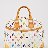Louis Vuitton Multicolore Monogram Trouville Handbag, 6/10 Condition - Biggest Pre-Loved Louis Vuitton Shop Ever - Modnique.com