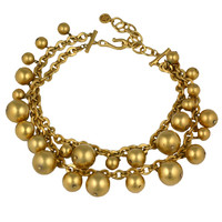 Givenchy Gilt Ball Charm Necklace