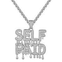 Sterling Silver Dripping Self Paid Rich Custom Slang Pendant