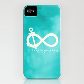 Anchored Forever Blue iPhone Case by FoolsWise | Society6