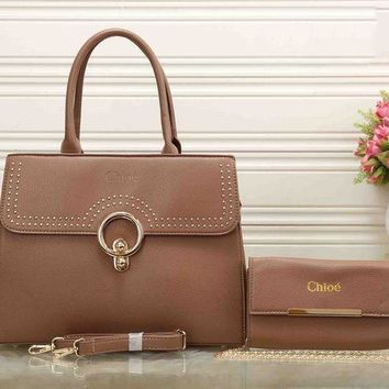 PEAPJ1A Chloe Stylish Ladies Elegant Leather Crossbody Shoulder Bag Satchel Handbag Two Piece Khaki I-XS-PJ-BB