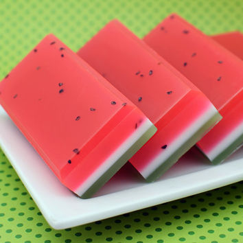 Juicy Watermelon Exfoliating Shea Butter Soap