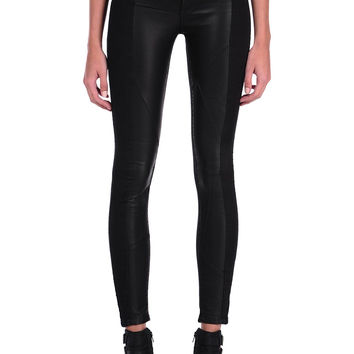 Blank NYC Black Licorice Paneled Super Skinny Jeans