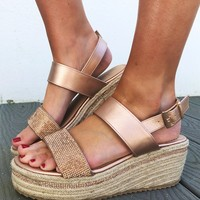 Touch Of Glitz Wedges: Rose Gold