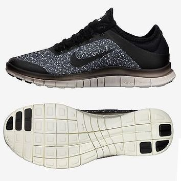 4d1c9d1066d9 Nike Free 3.0 V5 EXT 579828 001 Black Sail White Running WMNS Women s Shoes