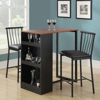 Walmart: Isla 3-Piece Counter Height Dining Set with Storage, Espresso