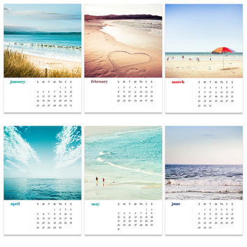2015 calendar beach photography fine art 4x6 5x7 ocean themed calendar mini desk calendar with easel nautical decor ocean photography teal