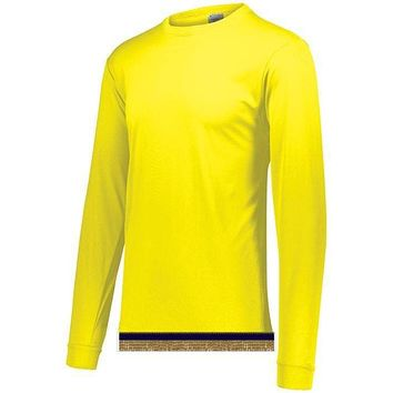Bright Yellow Performance Long Sleeve T-shirt With Fringes