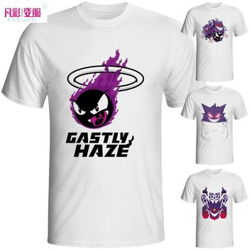 Gastly Gengar Pokemon Go T Shirt Design 3D Effect T-shirt Cool Novelty Funny Tshirt Style Men Women Printed Fashion Top Tee