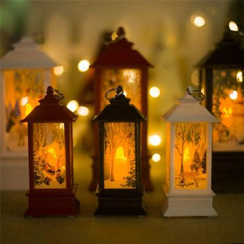 Windproof Candle Holder Ornaments Christmas Lights Candlestick Crafts wedding gifts Home Decor New Year Decoration #3O29#F