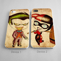 Harley Quinn and Joker Art Couple Case Couples Phone Case iPhone 4/4S, 5/5S, 5C Series, iPhone 6, 6plus - Hard Plastic, Rubber Case