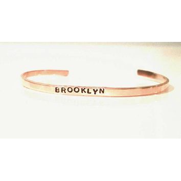 Brooklyn Extra Thin Stacking Copper Cuff