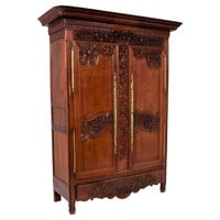 French Wedding Armoire,  c. 1820