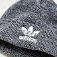 adidas Trefoil Knit Beanie   Urban Outfitters