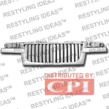 Gmc 2004-2008 Gmc Canyon Chrome Vertical Wide Bar Abs Grille Performance