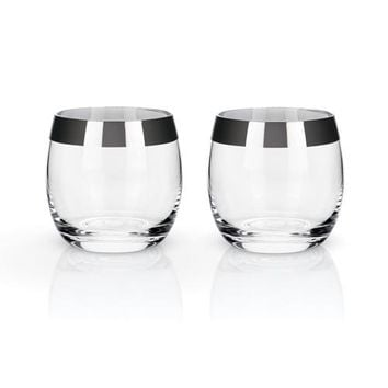 Chrome Rim Tumbler Set