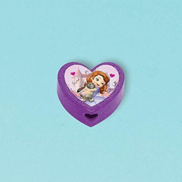 "Amscan Sofia the First Pencil Sharpener Disney Party Favors, Violet, 3/4"" x 1 1/2"""