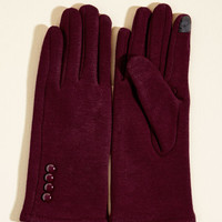 Elegant Adieu Texting Gloves in Cranberry