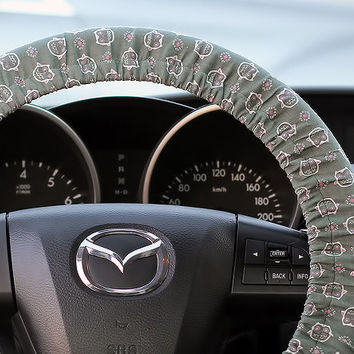 Steering Wheel Cover Bow Wheel Car Accessories Lilly Heated For Girls Interior Aztec Monogram Tribal Camo Cheetah Sterling Chevron Owl