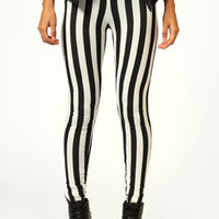 Felicity Monochrome Stripe High Waist Leggings