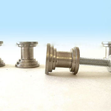 FOUR DIY Cabinet Knob making base bases, knob making base kit knob kit, knob kits, satin nickle base & screws Cabinet pull base handle bases