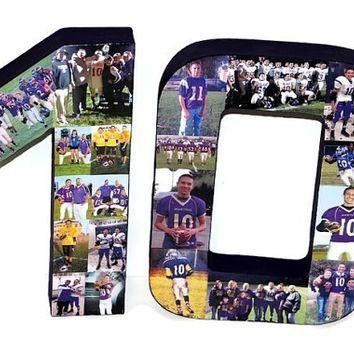 3D Number Photo Collage Two Digit Birthday Anniversary Party Senior Night Jersey Numbe