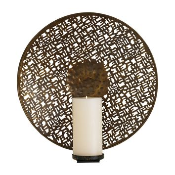 Lodi Antique Brass Candle Wall Sconce by Global Views