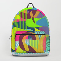 Colorful vibes Backpack by Sagacious Design